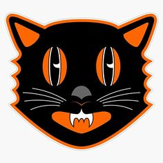Cat Stickers, Bumper Stickers, Car Magnets, Vintage Halloween, Decals, Crafts, Design, Bumper Stickers For Cars, Tags