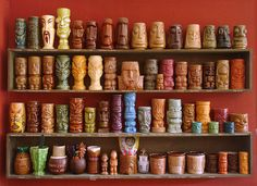 Awesome tiki mug collection.  One day...