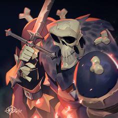 Max Grecke [Facebook] - Headshot # 49, Skeleton knight!
