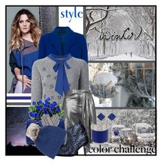 """""""Rock This Look: Blue and Silver"""" by eula-eldridge-tolliver ❤ liked on Polyvore featuring French Connection, Yves Saint Laurent, Dorothy Perkins, Unique, Mulberry, Maison Fabre, Maison Margiela, ADORNIA, Wyatt and MyStyle"""