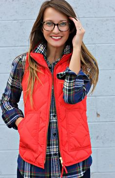 Check out this post for some serious puffer vest inspiration! #jcrew #puffervest