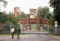 Spandau Prison during time of being demolished after Hess died