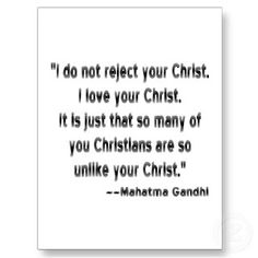 Let's all stop embarrassing God by not reflecting the Christ. No one is perfect, but we have work to do INDEED.
