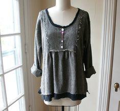 Handmade Linen Shirt / Lagenlook Blouse / by BreatheAgainClothing, $140.00
