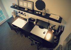 Ikea Hemnes double desk hack