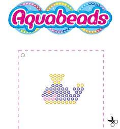 Une très mignonne baleine à réaliser avec #Aquabeads