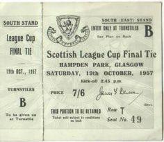 1957-10-19: Celtic 7-1 Rangers, League Cup - Pic