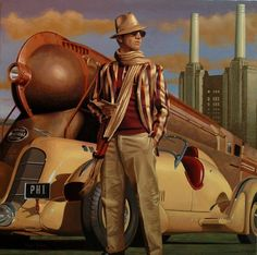 Every day more and more Dieselpunk artists appear on the scene. The artist Peregrine Heathcote may be one of the most original I've ever see. Retro Poster, Vintage Posters, Vintage Art, Art Deco Artwork, Art Deco Posters, Retro Kunst, Retro Art, Diesel Punk, Florence Academy Of Art