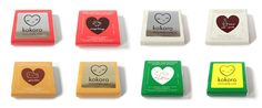 cute heart logo for some chocolates.