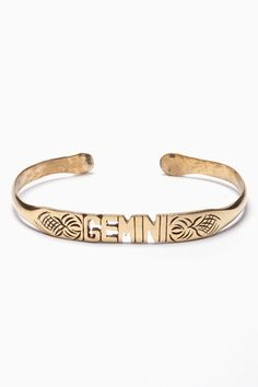 Zodiac Bracelet - Gemini. Usually I think zodiac jewelry is the tackiest shit ever (my apologies to any fans) but this is gorgeous.