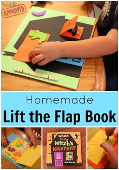 : Homemade Lift the Flap Book {Nick Sharratt Virtual Book Club… Toddler Activities, Activities For Kids, Preschool Ideas, Craft Ideas, Literacy Activities, Preschool Activities, Homemade Books, Toddler Fun, Toddler Crafts