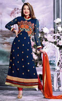 Chic Royal #Blue #Partywear Salwar Set @ http://www.indiandesignershop.com/product/chic-royal-blue-partywear-salwar-set/