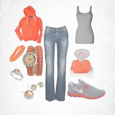 Orange and gray