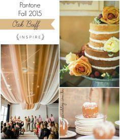 Pantone Fall 2015 - Oak Buff no casamento