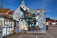 Wall paints, Muurschilderingen, Peintures Murales,Trompe-l'oeil, Graffiti, Murals, Street  art.: Breda - Netherlands Super A