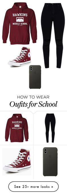 """Untitled #901"" by isabella-reyes2424 on Polyvore featuring Converse and Apple"