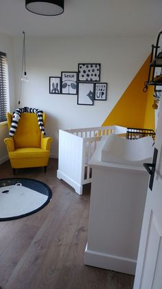 Baby room ocher yellow  #ocher #yellow