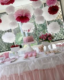 Bubble and Sweet: Pink Paper Doll Princess Party - Sophie's 5th Birthday Party
