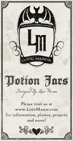 Potion Ingredients Label by Love Manor, via Flickr