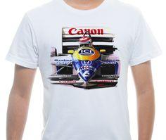 Camiseta Básica na cor Branco - Ilustração O Rei do Pódio 1987 por Leonardo Castilho