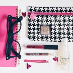 Houndstooth school supply or makeup Clutch Design Print - Back to school