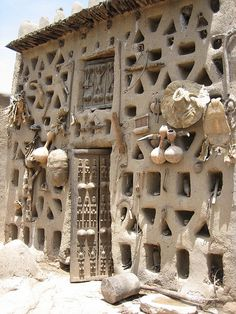 Hogan's (medicinal and ritual specialist) home.  It is also referred to as the House of Marcel Griaule, (anthropologist - 1930s).  Sanga, Dogon Country, Mali |  ©Therese Lee