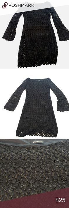 Jodi Kristopher Black with Gold Knit Dress Size M Jodi Kristopher Black with Gold Knit Dress Size M Jodi Kristopher Dresses