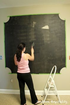 Playroom interactive chalkboard gallery wall gallery for Interactive room painting