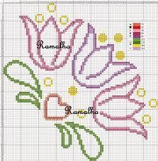 Resultado de imagen para flores ponto cruz canto