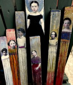 mordmardok: new tall girl portraits (di Maudstarr) Could I do something like this on paint sticks?