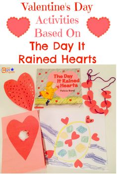 Valentine's Day Activities & Crafts Based onThe Day It Rained Hearts --Valentine's Day Cards, art, music, & more!  Part of #hsdayshop