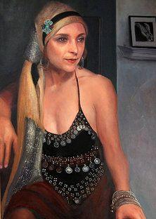 Protrait paintings of Leslie Margolis