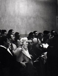 Swan among the geese! Marilyn Monroe at the Actors' Studio - 1955