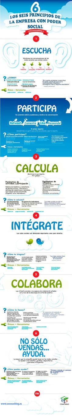 Los 6 principios de la empresa con poder Social #infografia #infographic #socialmedia