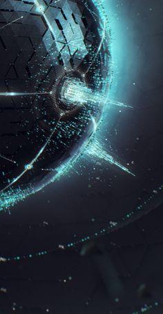 //Sphere StyleFrame ~Daniel Rusanov #art #sci-fi #illustration