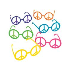 Peace Sign Eyeglasses - OrientalTrading.com