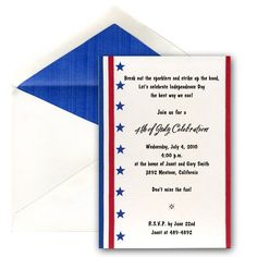 Wonderful 4th Of July/Patriotic Wedding Invitation Paperstyle.com Sample Is For A 4th  Of