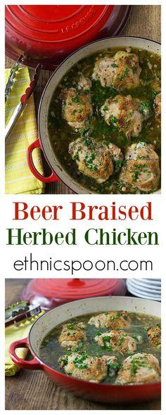 beer braised chicken and onions tender and juicy beer braised herbed ...