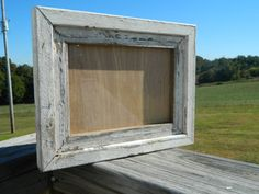 5x7 Rustic barnwood Picture Frame Repurposed by AJRWoodworks, $20.00