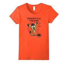 I Love this Funny and cute Werewolf In Training Halloween T-Shirt. Great choice if you don't want to wear a costume.