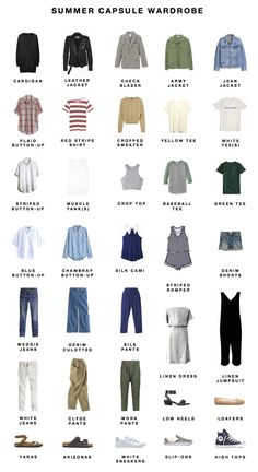 Essential Buying Guide for your Summer Minimalist Capsule Wardrobe Capsule Wardrobe Mom, Wardrobe Sets, Basic Wardrobe Essentials, Staple Wardrobe Pieces, Wardrobe Basics, Work Wardrobe, Minimalist Wardrobe, Minimalist Fashion, Minimalist Lifestyle