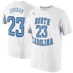 Nike Michael Jordan North Carolina Tar Heels (UNC) Future Star Jersey Replica T-Shirt - White