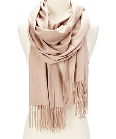 This Taupe Fringe Scarf by Pure Style Girlfriends is perfect! #zulilyfinds