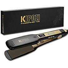 Kipozi Professional Titanium Flat Iron Hair Straightener With