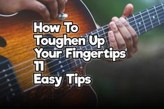 How To Toughen Up Your Fingertips – 11 Easy Tips – Rock Guitar Universe Learn Acoustic Guitar, Guitar Chords Beginner, Guitar Chords For Songs, Learn To Play Guitar, Music Guitar, Playing Guitar, Learning Guitar, Guitar Tips, Ukulele
