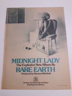 Rare Earth Music Ad Midnight Lady Explosive New Album Full Page Color