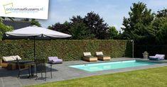 poolbedden op maat Patio, Outdoor Decor, Home Decor, Decoration Home, Room Decor, Home Interior Design, Home Decoration, Terrace, Interior Design