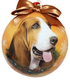This Basset Hound Christmas Ornament is a favorite Gift for the holidays! #bassethoundornament #bassethoundlover #bassethound #hounddog  #bassethoundgift