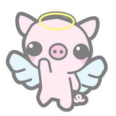 kawaii emoticons | KAWAII PIGGY by misskatv