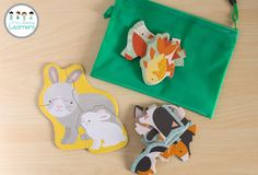 Busy Bags for Toddlers - Animal Puzzles